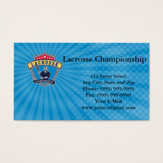 Lacrosse Championship Business Card