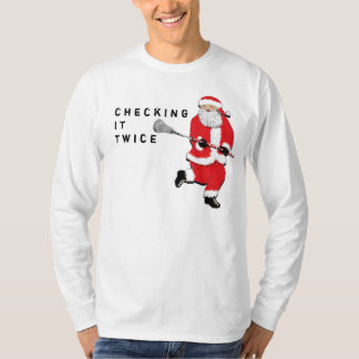 Lacrosse Checking It Twice T-Shirt