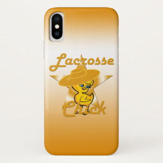 Lacrosse Chick #10 iPhone X Case