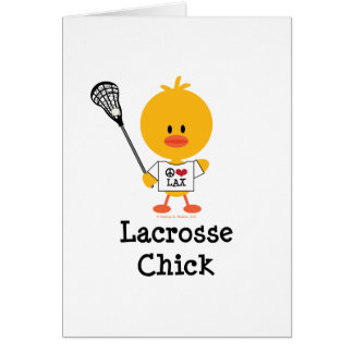 Lacrosse Chick Greeting Cards