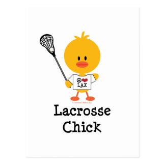 Lacrosse Chick Postcard