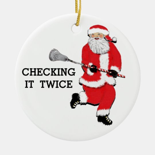 Collectible Christmas Ornaments lacrosse christmas collectible ceramic ornament | zazzle