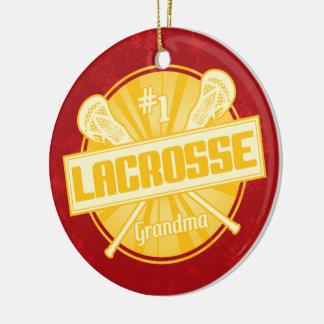 Lacrosse Christmas Ornament, #1 LAX Grandma Ceramic Ornament
