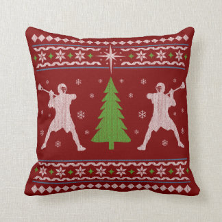 Lacrosse Christmas Pillow - Sweater style