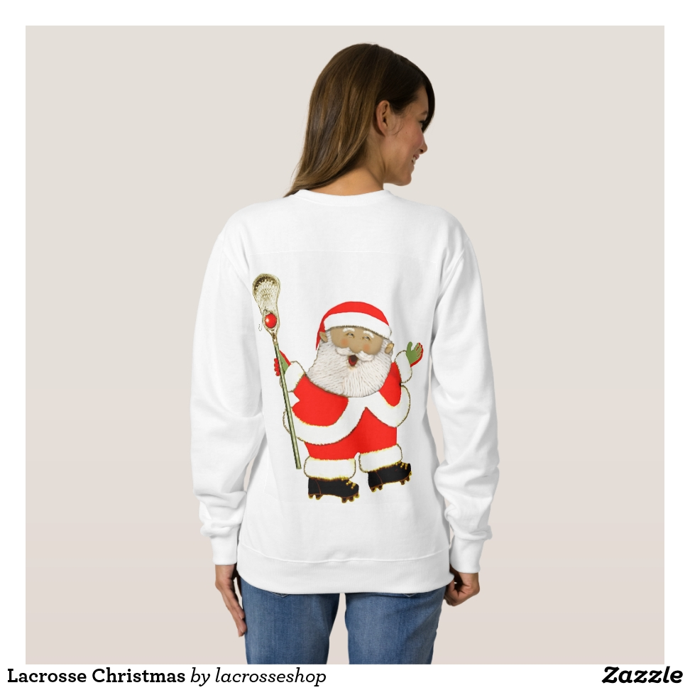 Lacrosse Christmas Sweatshirt - Casual Long-Sleeve Street Fashion Shirts