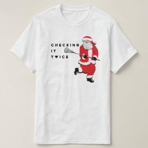 Lacrosse Christmas T_Shirt