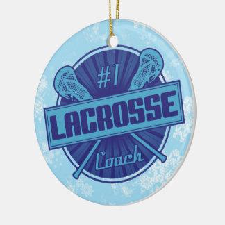 Lacrosse Christmas Tree Decoration, #1 LAX Coach Ceramic Ornament