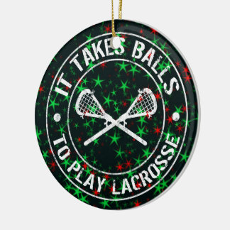 Lacrosse Christmas Tree Ornament Decoration