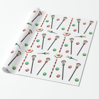 lacrosse Christmas Wrapping Paper