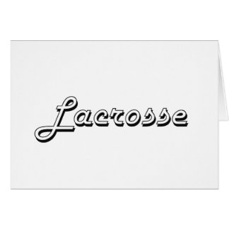 Lacrosse Classic Retro Design Stationery Note Card