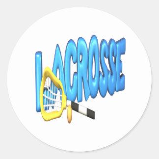 Lacrosse Classic Round Sticker
