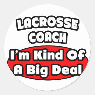 Lacrosse Coach Big Deal Stickers