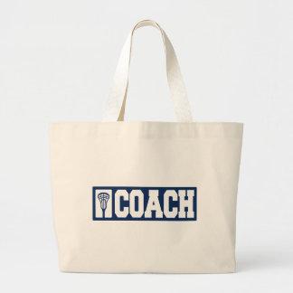 Lacrosse Coach - blue Tote Bag