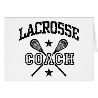 Lacrosse Coach Greeting Cards