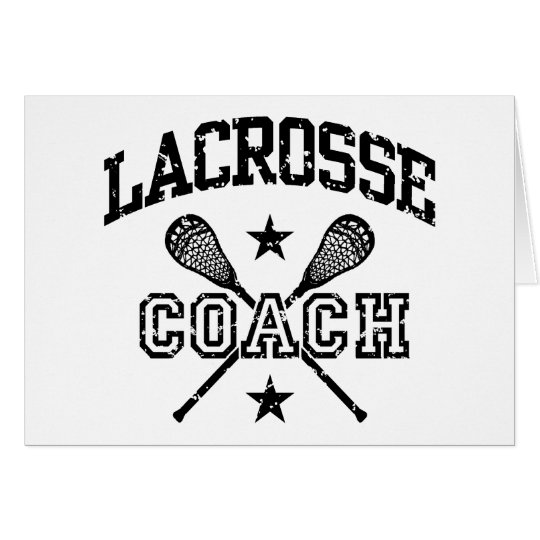 Lacrosse Coach Card
