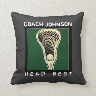 lacrosse coach custom gift pillow