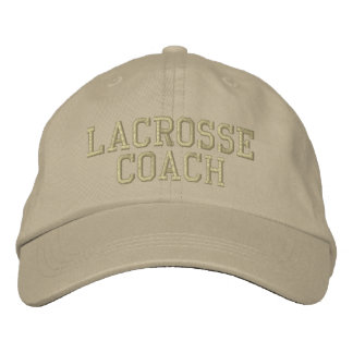 Lacrosse Coach Embroidered Baseball Cap
