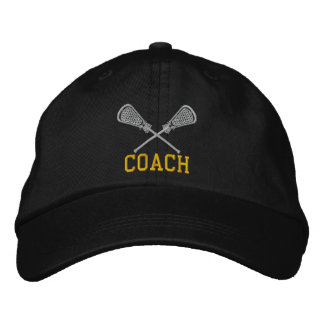 Lacrosse Coach Embroidered Cap