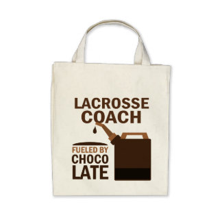 Lacrosse Coach (Funny) Chocolate Tote Bag