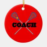 Lacrosse Coach Gift Idea Christmas Tree Ornaments