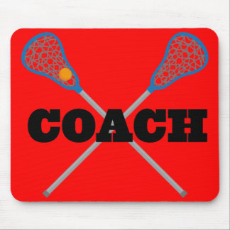 Lacrosse Coach Gift Idea Mouse Pad