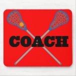 Lacrosse Coach Gift Idea Mousepads