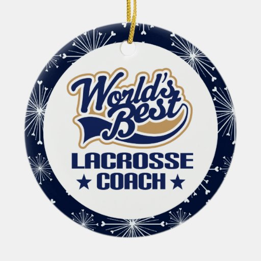 Lacrosse Coach Gift Ornament