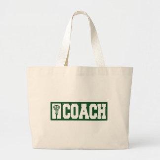 Lacrosse Coach - green Canvas Bag