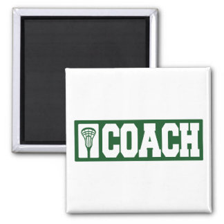 Lacrosse Coach - green 2 Inch Square Magnet