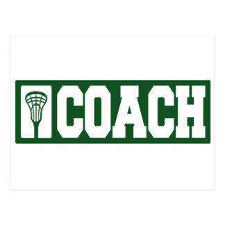 Lacrosse Coach - green Postcard