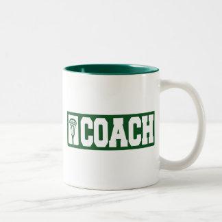 Lacrosse Coach - green Two-Tone Coffee Mug