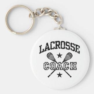 Lacrosse Coach Keychain