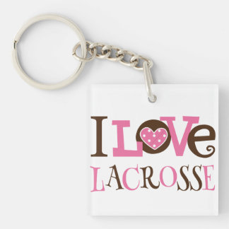 Lacrosse Coach or Player Gift Keychain