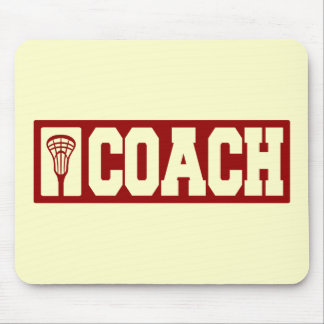Lacrosse Coach - red Mouse Pad