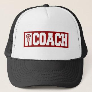 Lacrosse Coach - red Trucker Hat