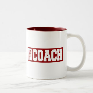 Lacrosse Coach - red Two-Tone Coffee Mug