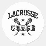 Lacrosse Coach Round Sticker