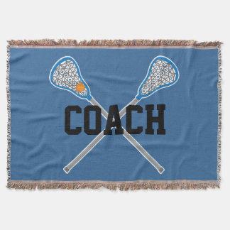 Lacrosse Coach Sports Blanket Gift