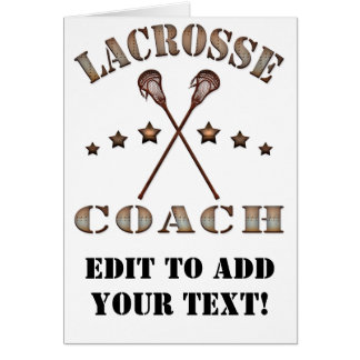 Lacrosse Coach Steampunk Style Card