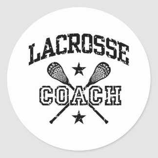 Lacrosse Coach Classic Round Sticker