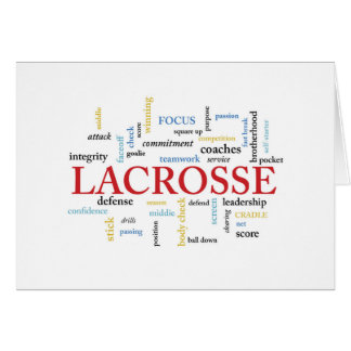 Lacrosse Coach Thanks Words Card