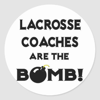 Lacrosse Coaches Are The Bomb Round Stickers