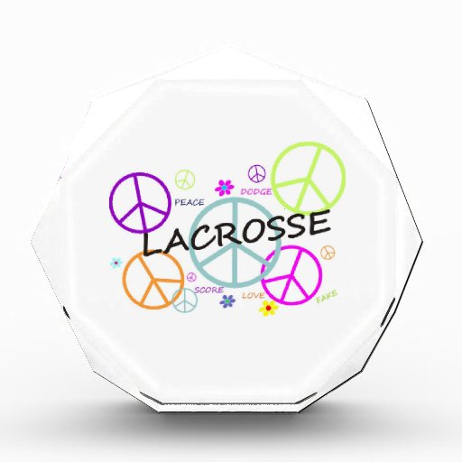 Lacrosse Colored Peace Signs Acrylic Award