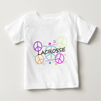 Lacrosse Colored Peace Signs Baby T-Shirt