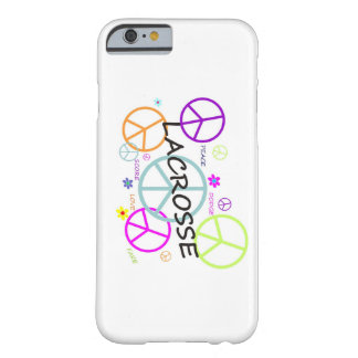 Lacrosse Colored Peace Signs Barely There iPhone 6 Case