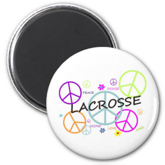 Lacrosse Colored Peace Signs Magnet