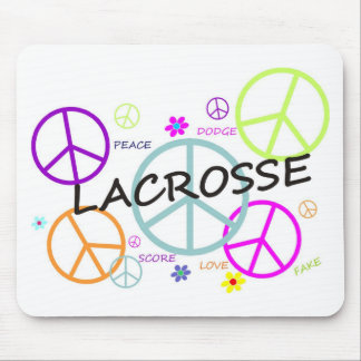 Lacrosse Colored Peace Signs Mouse Pad