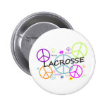 Lacrosse Colored Peace Signs Pins