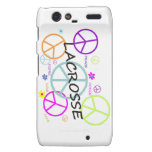 LaCrosse coloreó signos de la paz Motorola Droid RAZR Funda
