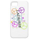 LaCrosse coloreó signos de la paz iPhone 5 Case-Mate Coberturas